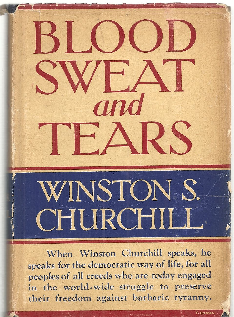 Blood, Sweat, and Tears, Churchill, Winston S.