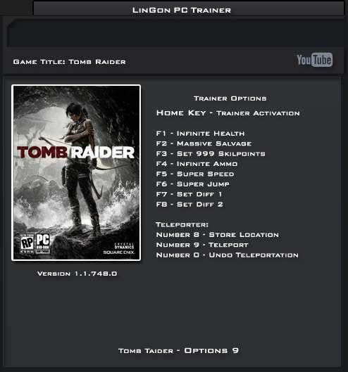Tomb Raider 2013 trainer