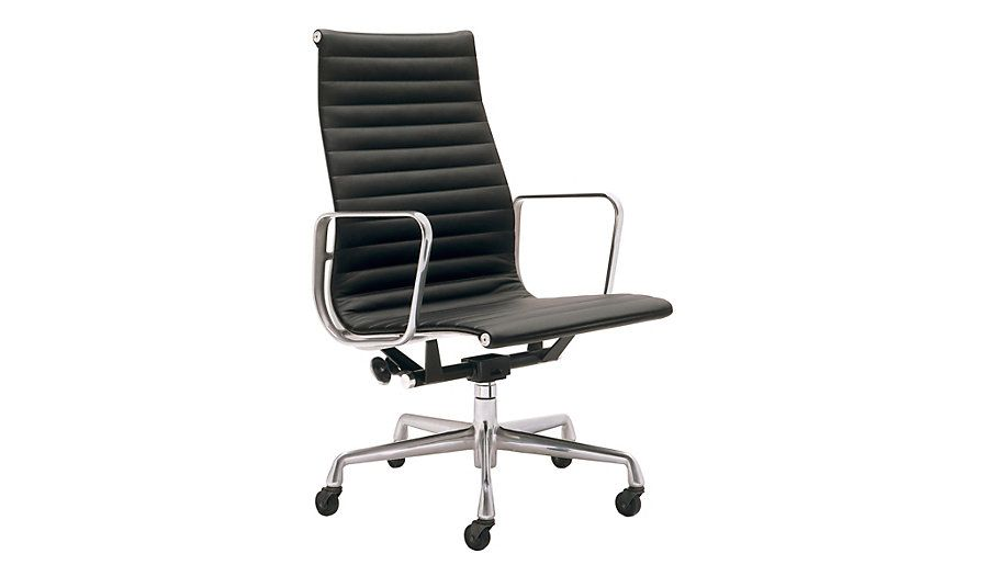 eames aluminum executive chair black leather dwr design. Black Bedroom Furniture Sets. Home Design Ideas