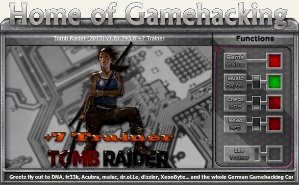 Tomb Raider 1.01.743.0 +7 Trainer [HoG]