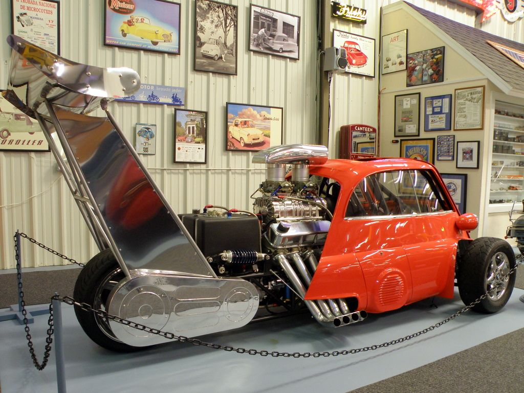 BMW Isetta Dragster Featuring 730HP Chevy V8 and M3 Suspension