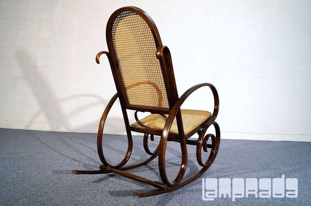 Alter bugholz schaukelstuhl rocking chair rocker thonet for Alter schaukelstuhl