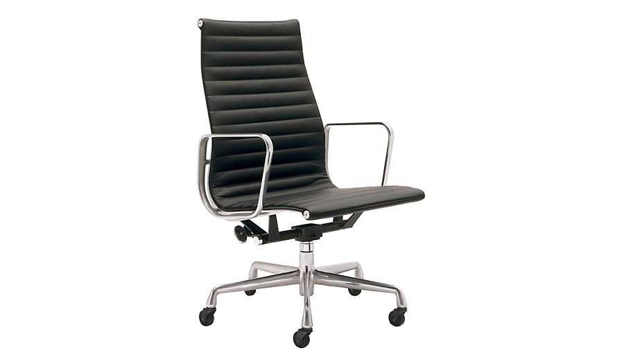eames aluminum executive chair black leather dwr design. Black Bedroom Furniture Sets. Home Design Ideas